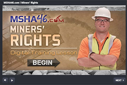 图片 MSHA Part 46: Miners' Rights